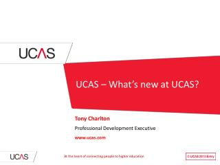 UCAS – What's new at UCAS?