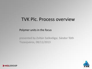 TVK  Plc .  Process overview