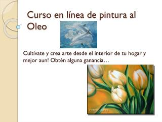 Curso en línea de pintura al Oleo