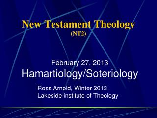 New Testament Theology  (NT2)