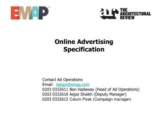Online Advertising  Specification