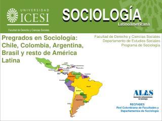 RECFADES Red Colombiana de Facultades y Departamentos de Sociología