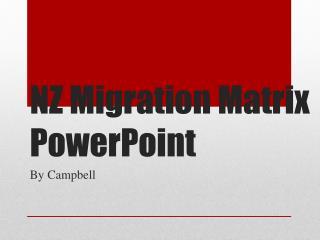 NZ Migration Matrix PowerPoint
