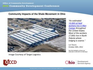 Community Impacts of the Shale Movement in Ohio