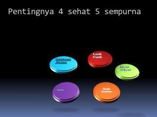 Pentingnya  4  sehat  5  sempurna