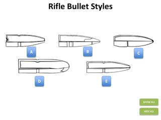 Rifle Bullet Styles