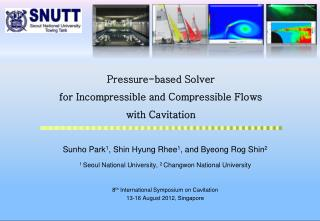 Pressure-based Solver  for Incompressible and Compressible Flows  with Cavitation