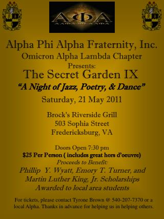 Alpha Phi Alpha Fraternity, Inc. Omicron Alpha Lambda Chapter