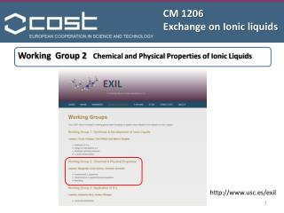 CM 1206 Exchange on  Ionic liquids