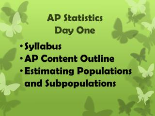 AP Statistics Day One