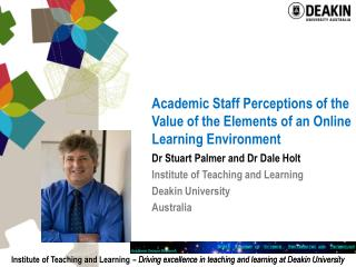 Academic Staff Perceptions of the Value of the Elements of an Online Learning Environment