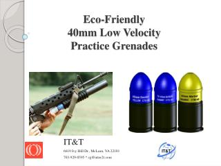 Eco-Friendly 40mm Low Velocity  Practice Grenades