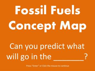 Fossil Fuels Concept Map