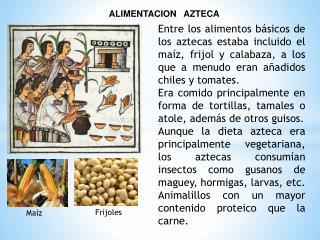 ALIMENTACION   AZTECA