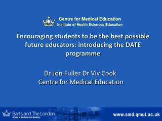 Encouraging students to be the best possible future educators: introducing the DATE programme