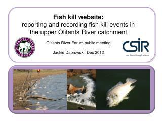 Fish kill website: