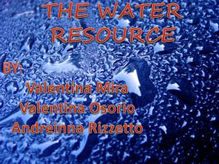 THE WATER RESOURCE