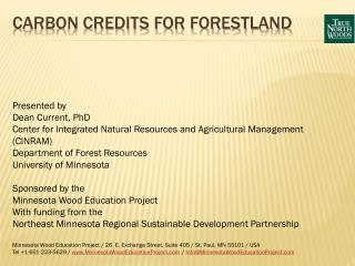 Carbon Credits for Forestland