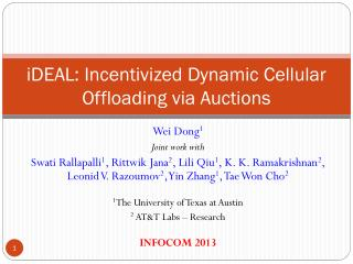 iDEAL :  Incentivized Dynamic Cellular Offloading via Auctions