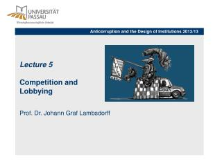 Lecture  5  Competition and  Lobbying