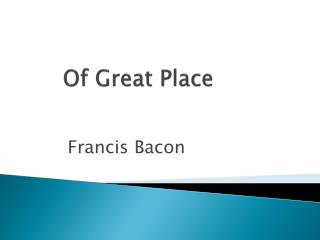Of Great Place