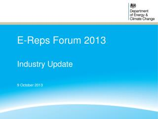 E-Reps Forum 2013
