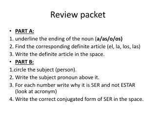 Review packet