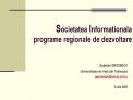 Societatea Informationala   programe regionale de dezvoltare