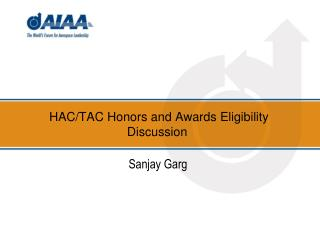 HAC/TAC Honors and Awards Eligibility Discussion