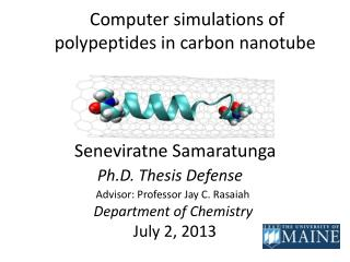 Computer simulations of polypeptides in carbon nanotube