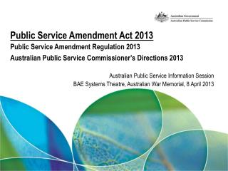 Australian Public Service Information Session