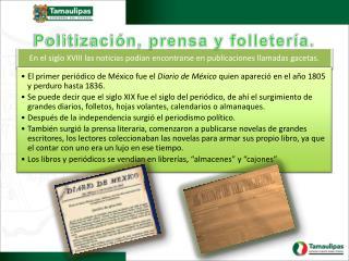 Politización, prensa y folletería.