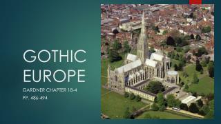 GOTHIC EUROPE