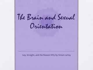 The Brain and Sexual Orientation