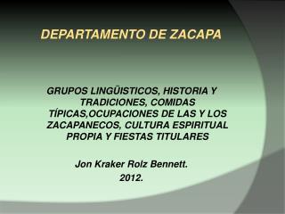 DEPARTAMENTO DE ZACAPA