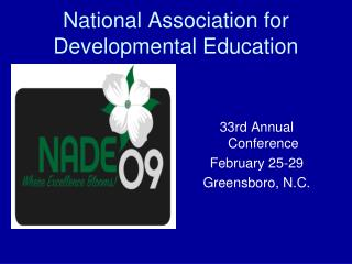 National Association for Developmental Education