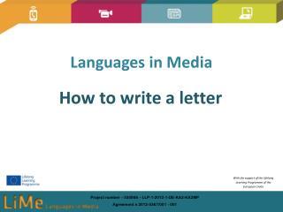 Languages in Media