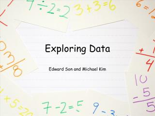 Exploring Data