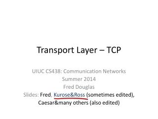 Transport Layer – TCP