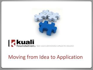 Moving from Idea to Application