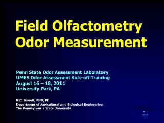 Field Olfactometry Odor Measurement
