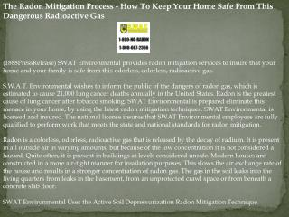 The Radon Mitigation Process - How To Keep Your Home Safe Fr