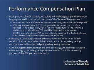 Performance Compensation Plan