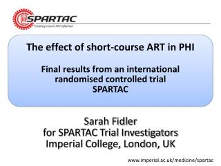 The effect of short-course ART in PHI