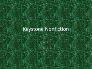 Keystone Nonfiction