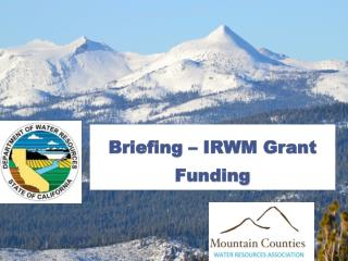 Briefing  – IRWM Grant Funding
