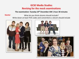 GCSE Media Studies Revising for the mock examinations