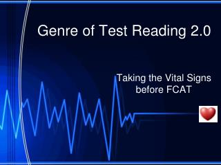 Genre of Test Reading 2.0