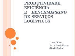 PRODUTIVIDADE, EFICIÊNCIA E  BENCHMARKING DE SERVIÇOS  LOGÍSTICOS