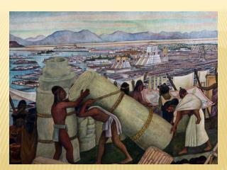 1345 Aztecs built Tenochtitlan at Lake  Texcoco